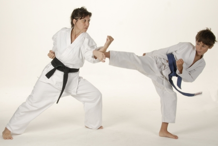 Martial arts training between teacher and student