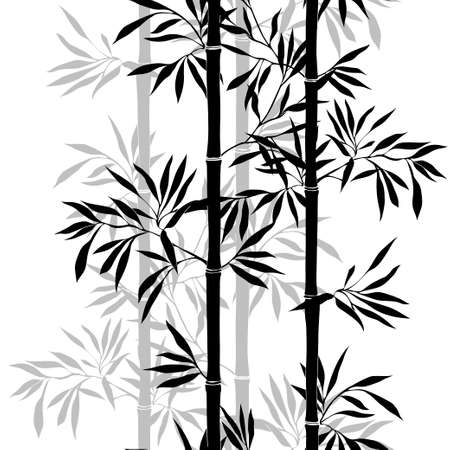 Photo for Seamless pattern. Bamboo leaf background. Floral seamless texture with leaves. Vector illustration - Royalty Free Image