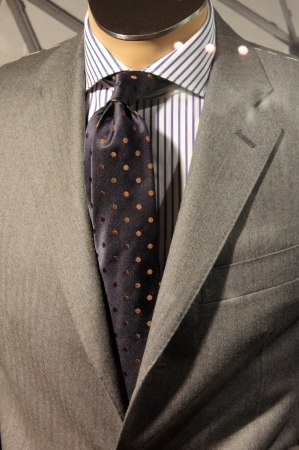 An elegant men suit on a mannequin
