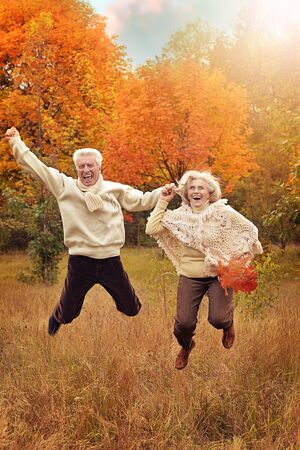Photo for Portrait of happy senior woman and man - Royalty Free Image