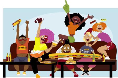 Illustration pour Football party - image libre de droit