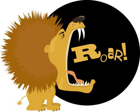 Illustration for Cartoon lion roaring, vector illustration, no transparencies, EPS 8 - Royalty Free Image