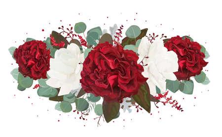 Illustration for Vector floral bouquet design. - Royalty Free Image