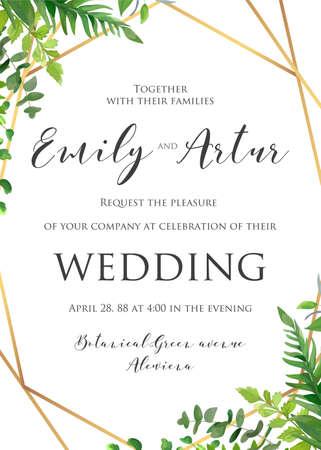 Photo pour Wedding floral invitation, invite, save the date template. - image libre de droit