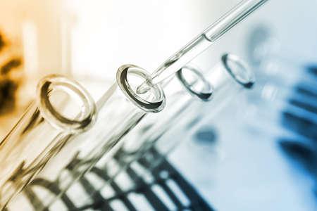 Foto de Test tubes closeup.medical glassware - Imagen libre de derechos