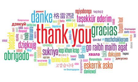 Ilustración de Thank You illustration word cloud in different languages - Imagen libre de derechos