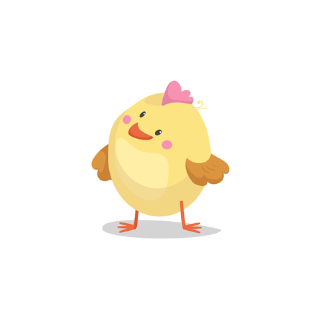 Illustration pour Cartoon boy new born chick. Easter, spring and new born baby vector illustration. - image libre de droit