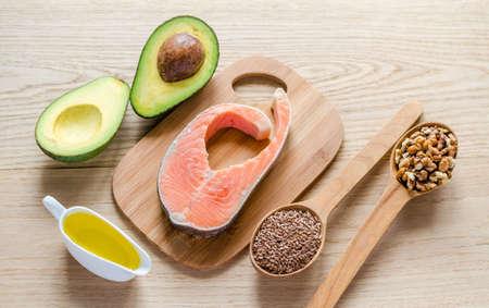 Photo pour food with unsaturated fats - image libre de droit