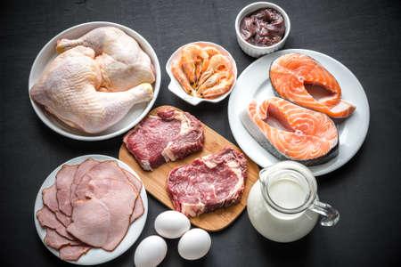 Photo pour ingredients for protein diet - image libre de droit