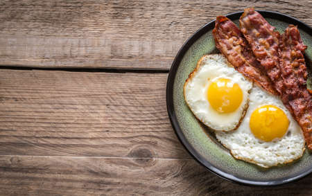 Photo for fried eggs with bacon - Royalty Free Image