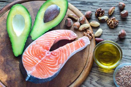 Photo pour Food with omega 3 - image libre de droit