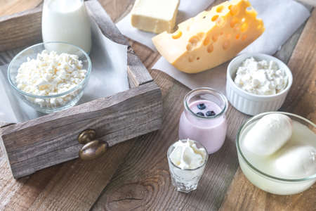 Photo for Assortment of dairy products - Royalty Free Image