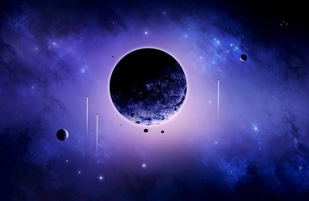 Space art imaginary deep universe exploration poster