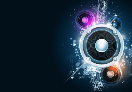 Photo pour party music background for flyers and nightclub posters - image libre de droit