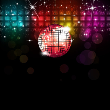 Photo for multicolor disco party music background with lights and blurs - Royalty Free Image