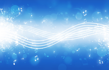 Photo for abstract music background notes lines bokeh and lights - Royalty Free Image