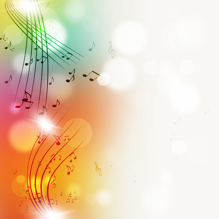Photo for abtract music notes multicolor bright background for joyful events - Royalty Free Image