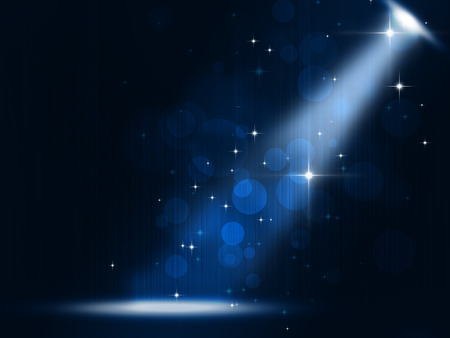 Photo for concert stage spotlight party music background on blue background - Royalty Free Image