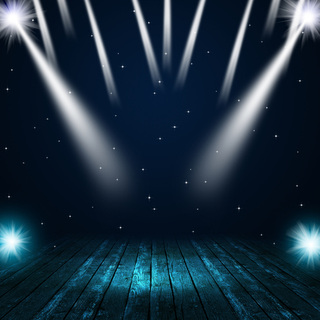 Photo for music concert background with spotlights on the stage - Royalty Free Image