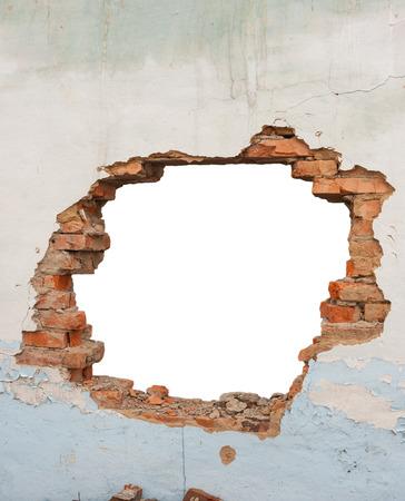 Foto de Hole brick wall - Imagen libre de derechos