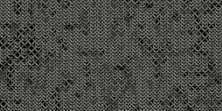 Photo for Chain mail background pattern. Seamless hauberk texture surface. - Royalty Free Image