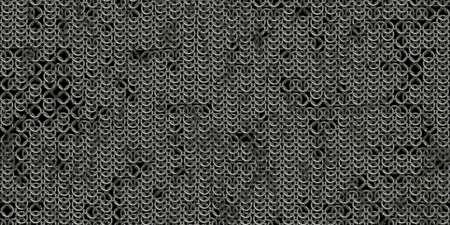 Photo pour Chain mail background pattern. Seamless hauberk texture surface. - image libre de droit