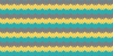 Foto de Blue Yellow Grey Chevron Geometry Background. Seamless Zigzag Texture. Modern Striped Pattern. - Imagen libre de derechos