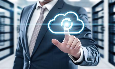 Photo pour Backup Storage Data Internet Technology Business concept. - image libre de droit