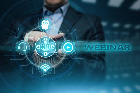 Foto de Webinar E-learning Training Business Internet Technology Concept. - Imagen libre de derechos