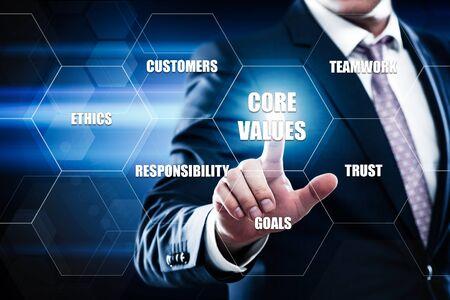 Foto für Core Values Responsibility Ethics Goals Company concept. - Lizenzfreies Bild
