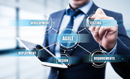Foto de Agile Software Development Business Internet Techology Concept. - Imagen libre de derechos