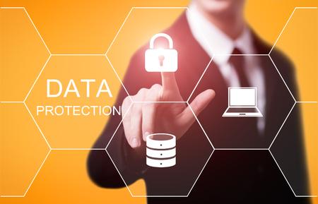 Foto de Data protection Cyber Security Privacy Business Internet Technology Concept. - Imagen libre de derechos