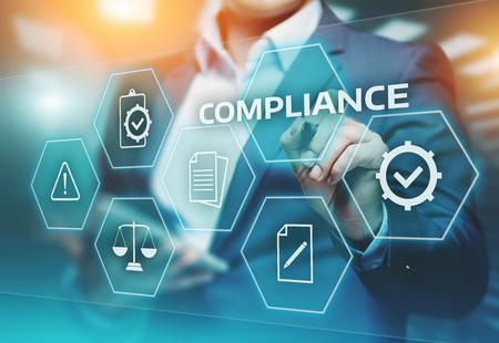 Photo pour Compliance Rules Law Regulation Policy Business Technology concept. - image libre de droit