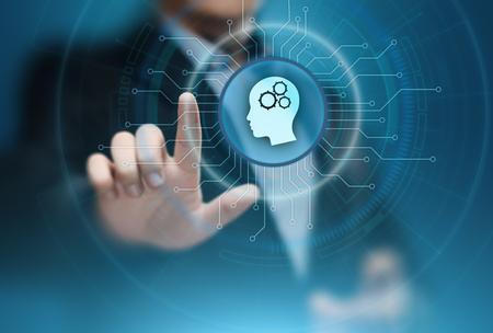 Photo pour Digital Brain Artificial intelligence AI machine learning Business Technology Internet Network Concept. - image libre de droit