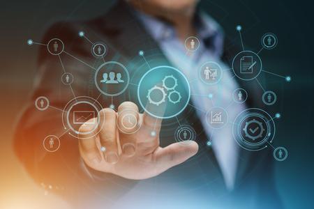 Photo pour Automation Software Technology Process System Business concept. - image libre de droit