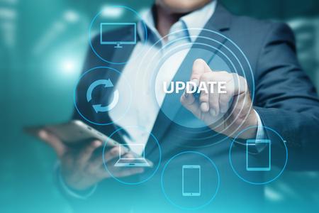 Foto de Update Software Computer Program Upgrade Business technology Internet Concept. - Imagen libre de derechos