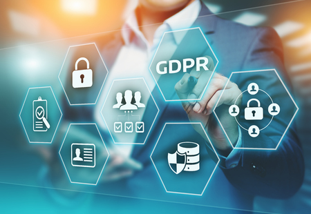 Foto de GDPR General Data Protection Regulation Business Internet Technology Concept. - Imagen libre de derechos
