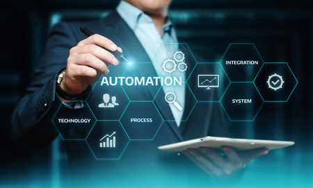 Foto de Automation Software Technology Process System Business concept. - Imagen libre de derechos