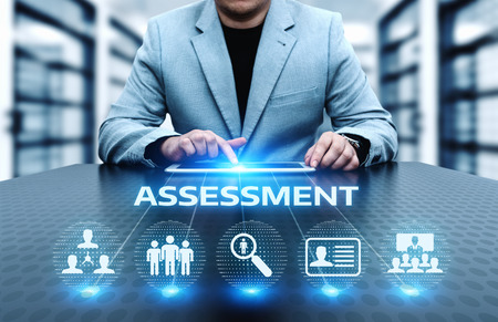 Photo for Assessment Analysis Evaluation Measure Business Analytics Technology concept. - Royalty Free Image