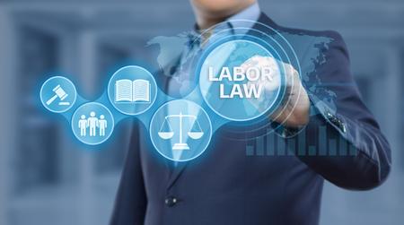 Foto de Labor Law Lawyer Legal Business Internet Technology Concept. - Imagen libre de derechos