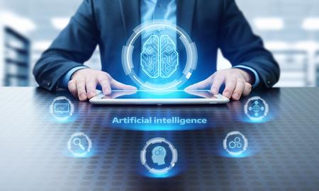 Foto de Artificial intelligence Machine Learning Business Internet Technology Concept. - Imagen libre de derechos