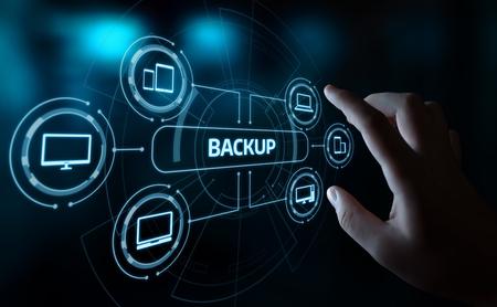 Foto de Backup Storage Data Internet Technology Business concept. - Imagen libre de derechos