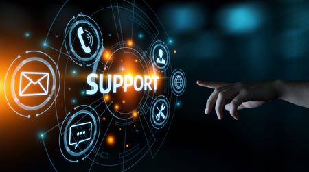 Photo pour Technical Support Center Customer Service Internet Business Technology Concept. - image libre de droit
