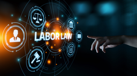 Photo for Labor Law Lawyer Legal Business Internet Technology Concept. - Royalty Free Image