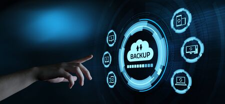 Photo pour Backup Storage Data Internet Technology Business concept. - image libre de droit