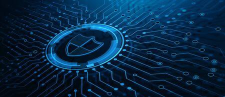Photo pour Data protection Cyber Security Privacy Business Internet Technology Concept - image libre de droit