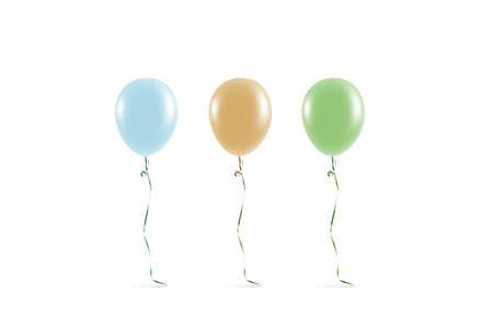 Photo pour Blank coloured balloon mock ups isolated. Clear colored balloon art design mockup. Clean pure baloon template. Logo, texture, pattern presentation on plain aerostat design element. - image libre de droit