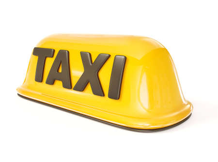 Photo pour taxi sign isolated on a white background. - image libre de droit