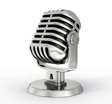 Photo for steel microphone isolated on a white background - Royalty Free Image