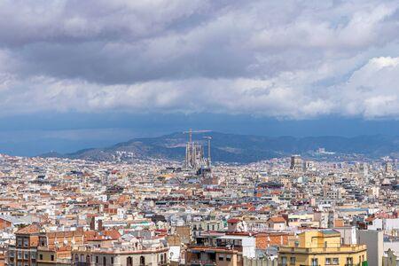 Foto de Aerial view of Barcelona, Spain - Imagen libre de derechos